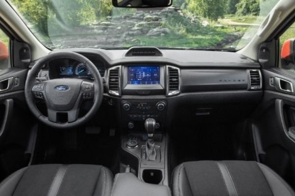 Interior view of the Ford Ranger Tremor