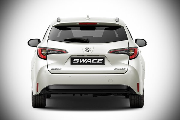 A picture of the rear of the Suzuki Swace.
