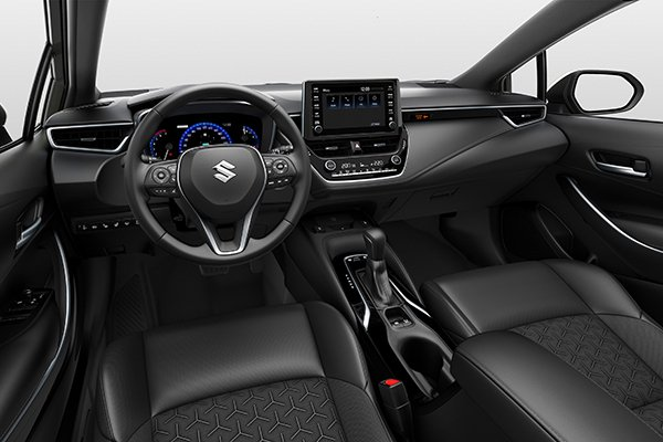A picture of the interior of the Suzuki Swace