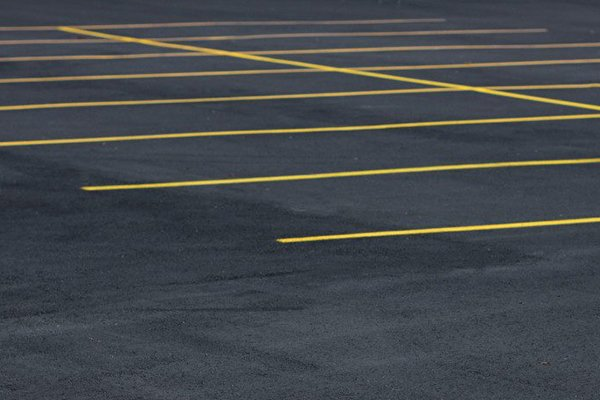 A picture of parking lot markings.