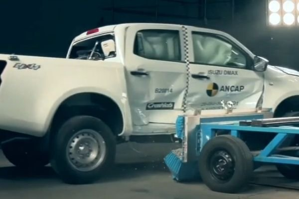 D-Max ANCAP side impact test
