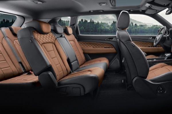 Interior view of the SsangYong Rexton