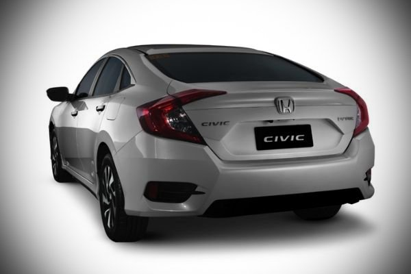 A picture of the rear of the Honda Civic