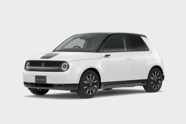 A white Honda E