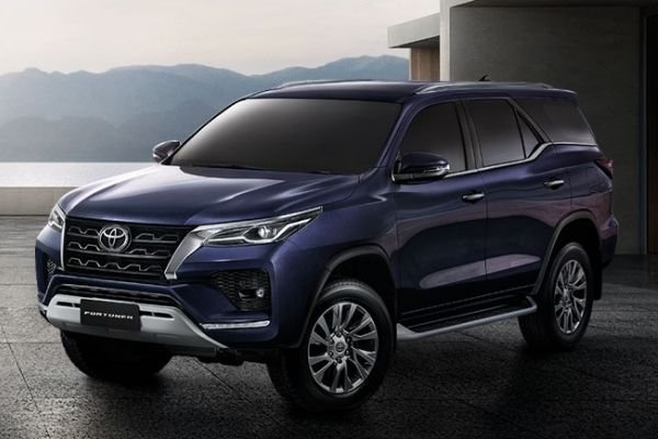 The new Fortuner finished in blue