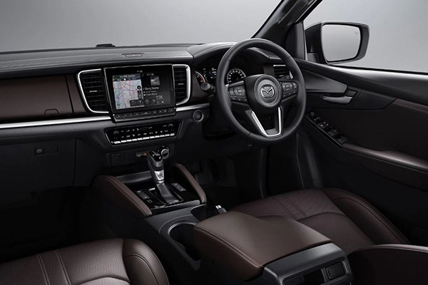 A picture of the interior of the Mazda BT-50