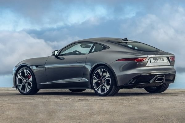 Rearview of the Jaguar F-Type