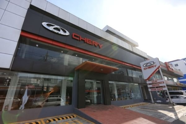 Front view of the new Chery Alabang