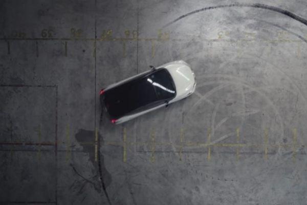 A drifting Nissan LEAF