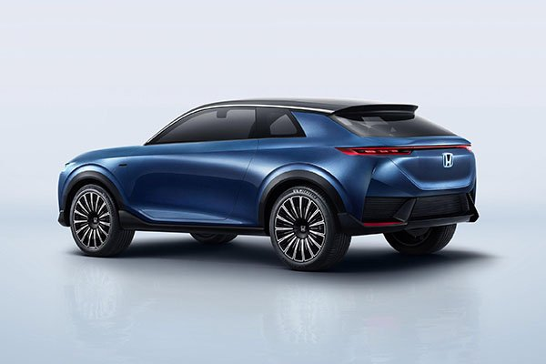 A picture of the rear of the Honda SUV e:concept