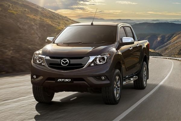 A Mazda BT-50 on the road
