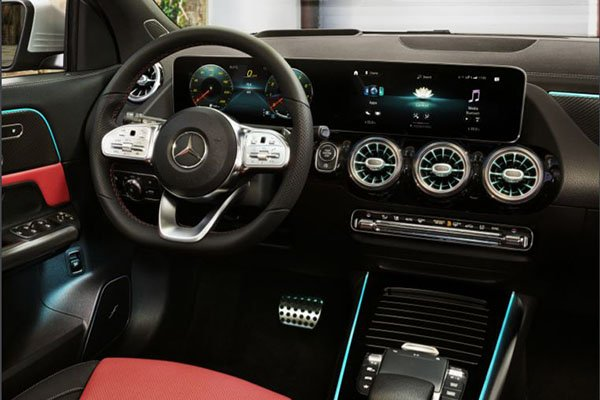 A picture of the 2021 GLA's interior.