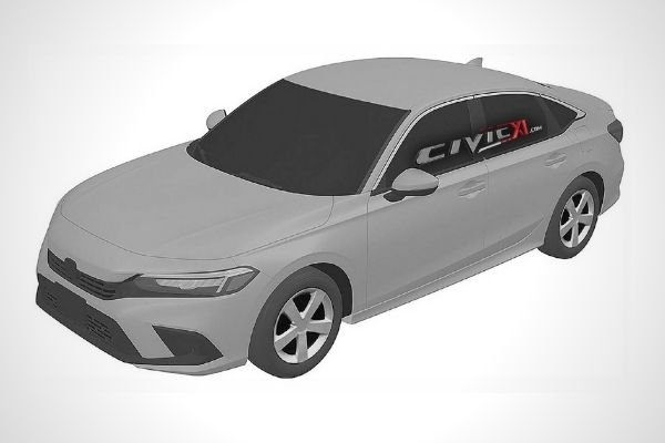 Front view of 2022 Civic Sedan patent image