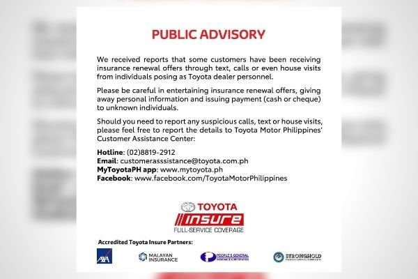 The public advisory by TMP