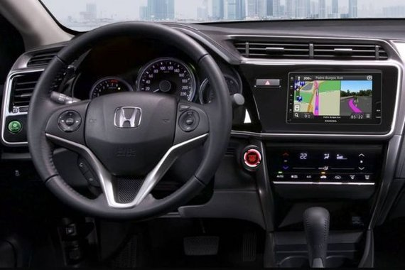 A picture of the interior of the Honda City.