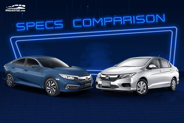 A picture of the City head to head with the Civic.