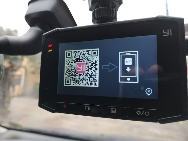 A dashcam connecting to a phone