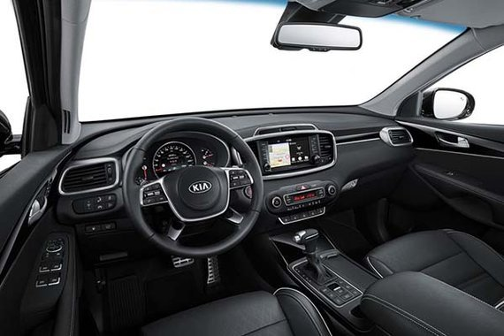 View from the inside of the Sorento