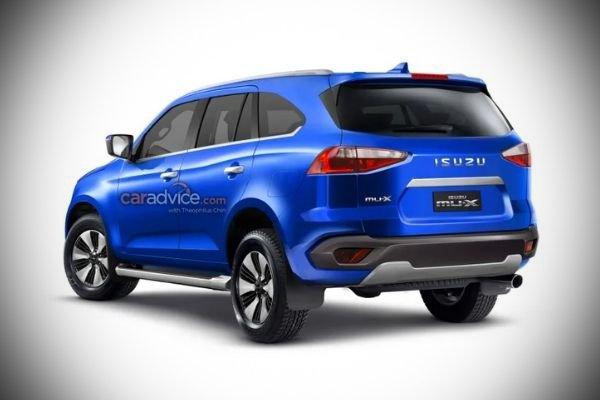 A rear rendering of the 2021 mu-X.