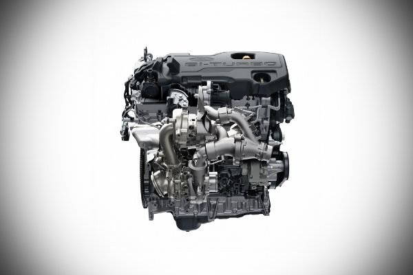 A picture of the Everest Biturbo's engine.