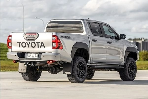 A picture of the rear of the Hilux Mako.