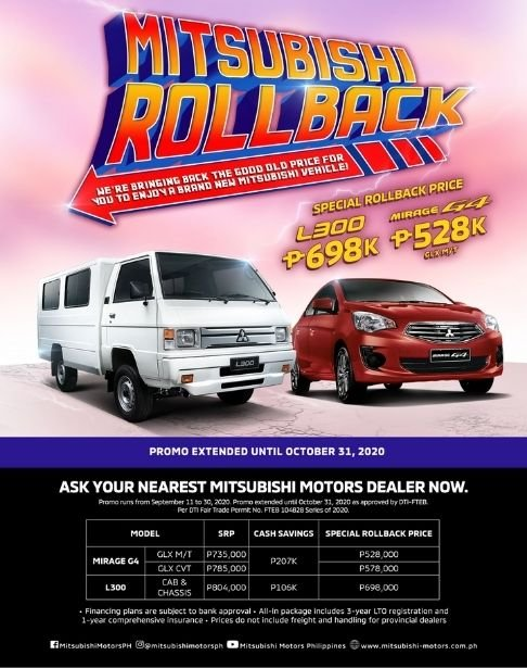 A picture of the Mitsubishi Rollback promo poster.