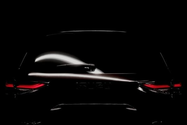Rear view of the teaser image of the new mu-X