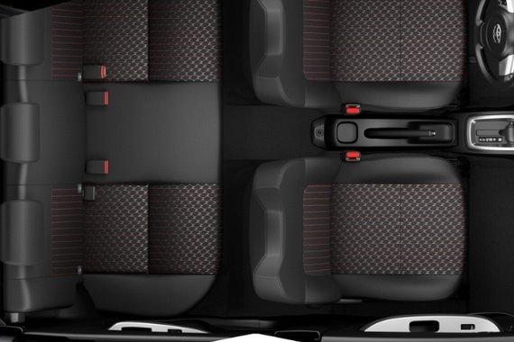 Interior view of the Toyota Wigo