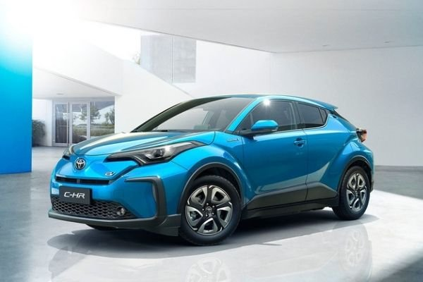 A picture of the Toyota C-HR EV.