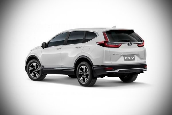 A picture of the rear of the 2021 Honda CR-V.