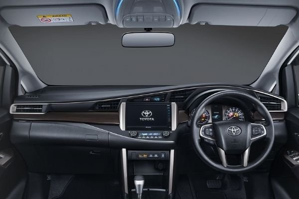 A Picture of the interior of the 2021 Toyota Innova.