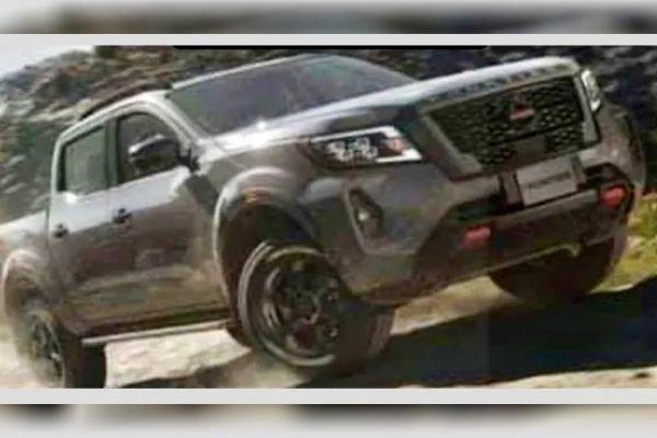 Leaked image of the 2021 Nissan Navara