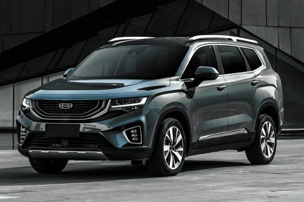 A picturie of the 2021 Geely Okavango front profile.