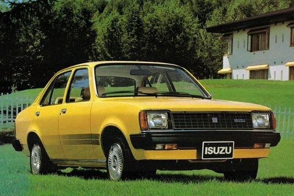 A picture of a yellow Isuzu Gemini.