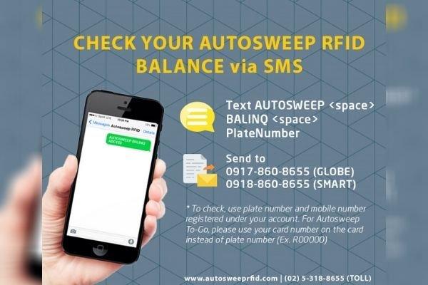 Autosweep SMS Balance Inquiry