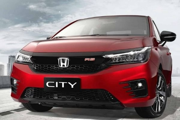 The new 2021 Honda City front view