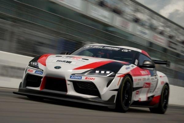 A picture of a Supra in Gran Turismo Sport.