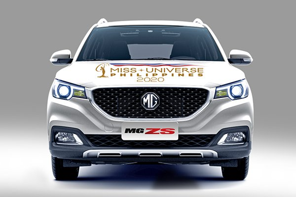 A picture of the MG ZS with Miss Universe PH liveries.