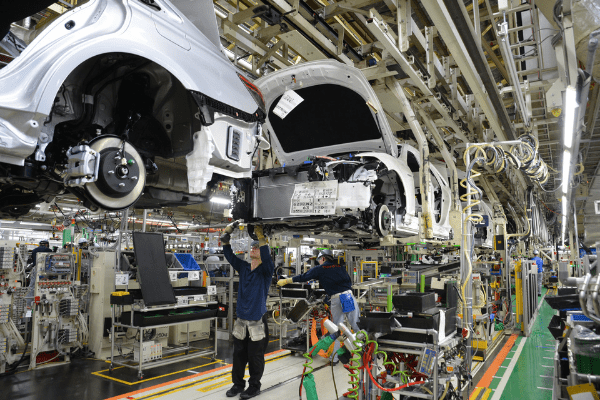 Photo of Toyota's manufacturing plant