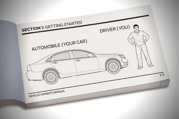 A picture of a car manual.