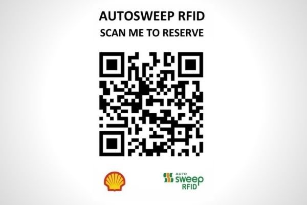 QR code from Shell Magallanes for an Autosweep RFID installation slot