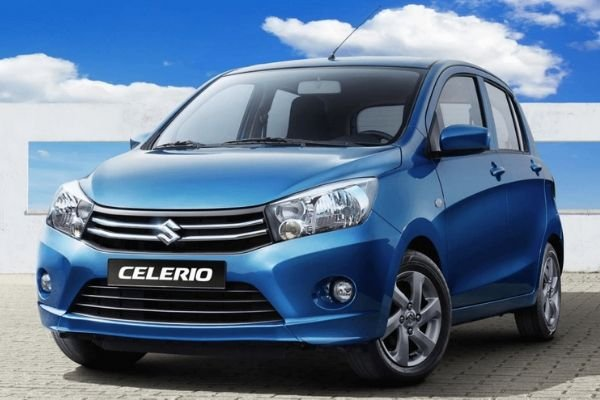 A picture of a blue Suzuki Celerio.