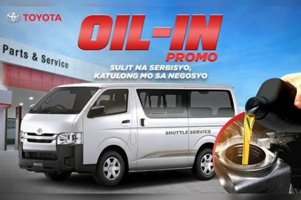 Toyota Motor Philippines' 2020 Oil Discount for Hiace