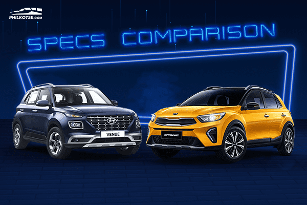 A picture of the Kia Stonic and Hyundai Venue head to head.