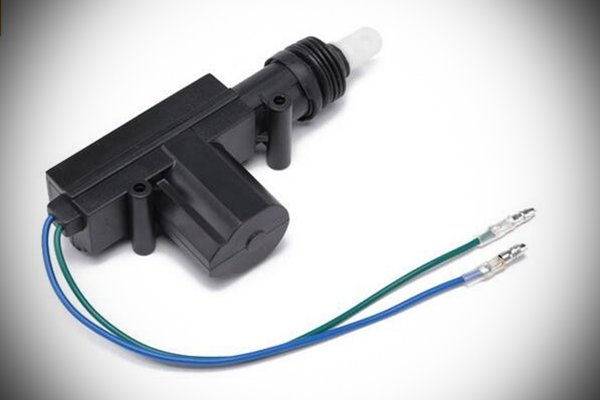 A picture of a car door locking actuator.