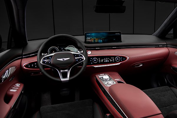 A picture of the interior of the GV70 Sport variant.