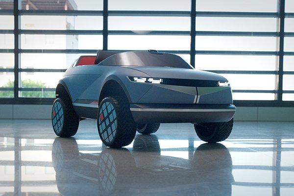 A picture of Hyundai's tiny EV.