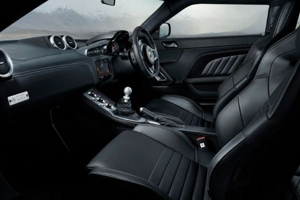 A picture of the interior of the Evora GT