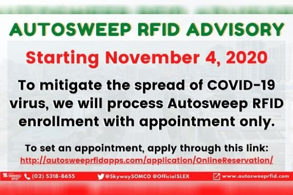 Autosweep Online Appointment Announcement