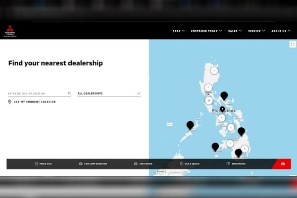 MMPC Dealer Locator Page